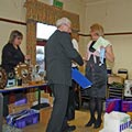 photo of presentation at NNC christmas dinner 2007